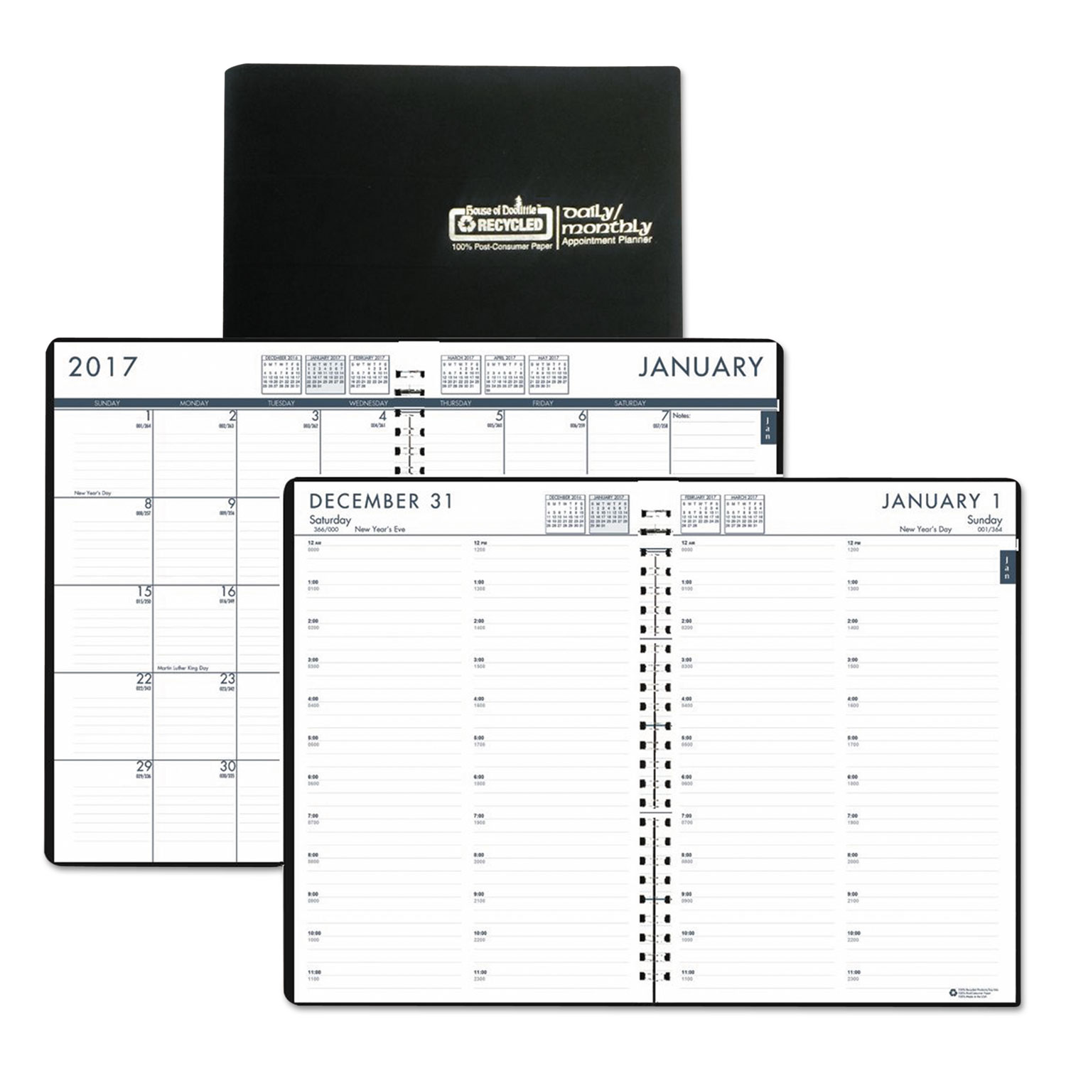 office supplies dated goods appointment books